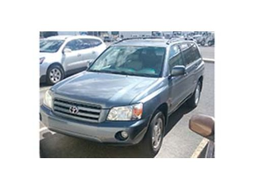 2007 TOYOTA Highlander 48004 miles AWD Automatic 6yl leather heated seats sunroof very nice c