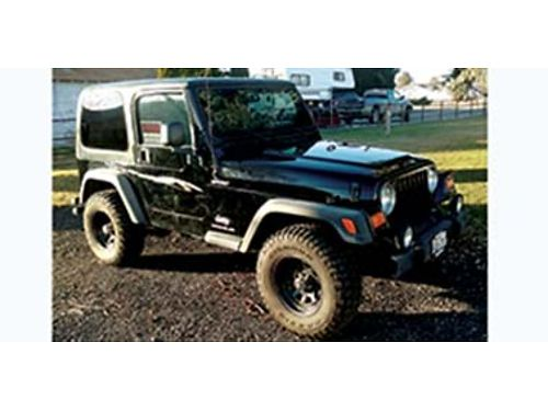 2004 JEEP Wrangler Sport 4x4 6 cyl 5 speed removable hardtop  doors AC C