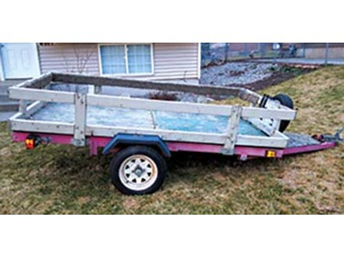 2005 4X6 tilt trailer with new spare tire new wiring 450 OBO 509-216-5361