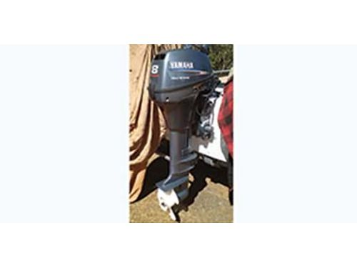 2006 8 HP Yamaha T8 electric start power trim 100 hrs like new comes with Troll Master remote
