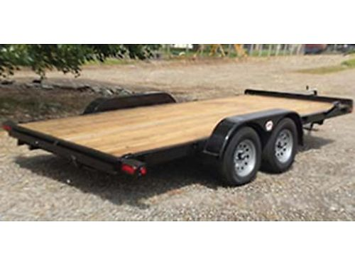 2019 FOX car trailer 16ft extra stake pockets winch platform tie down chain tray 2700 509-924