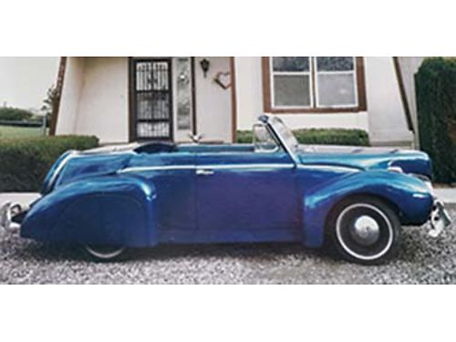 1958 VW convertible Mini Mark1 kit car looks like a 1939 Lincoln Continental