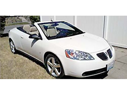 2008 PONTIAC G6 GT rare hard top convertible 39L V6 auto FWD leather loa