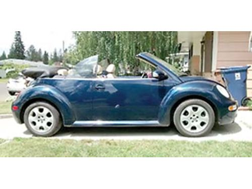 2003 VOLKSWAGEN Bug Convertible good condition 87 k miles auto AC leather interior PW clean