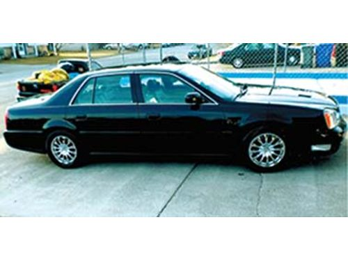 2001 CADILLAC DeVille black on black 124k miles power everything chrome summ