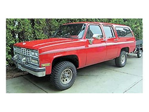 1989 CHEVROLET Suburban 20k miles on newer transmission and engine newer hubs 4WD automatic 500