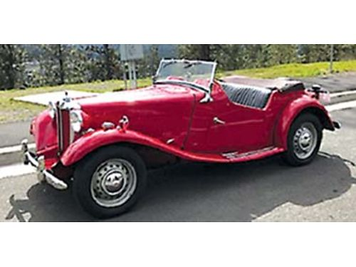 1953 MGTD Good condition have maintenance record included shop manual and electrical schematic a