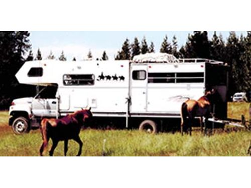 1995 GMC Top Kick Cat engine Allison transmission hauls horses or toys 11 camper fully contain