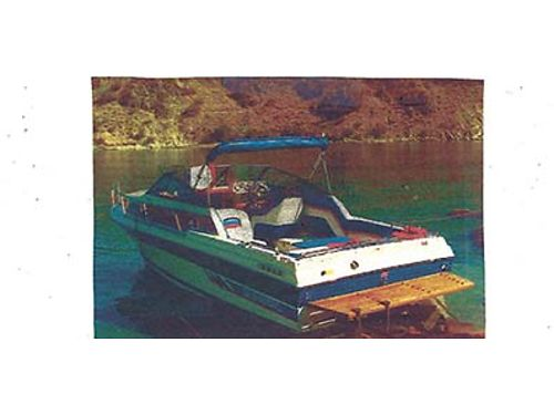 SUNBIRD 22 FT BOAT 1 Owner cuddy cab 58 liter engine OMC outdrive fresh water cooled travel top