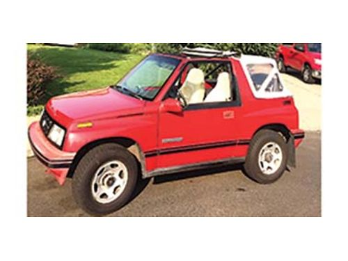 1990 GEO Tracker Super Low Miles tow-behind rig 4 cyl 16 ltr new top new tires super nice