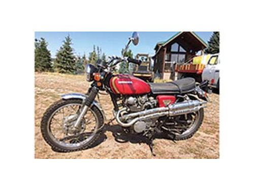 1970 HONDA CL 450 scrambler hard to find Honda motor overhaul new battery t