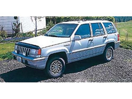 1994 JEEP Grand Cherokee Limited V-8 leather straight body good tires runs