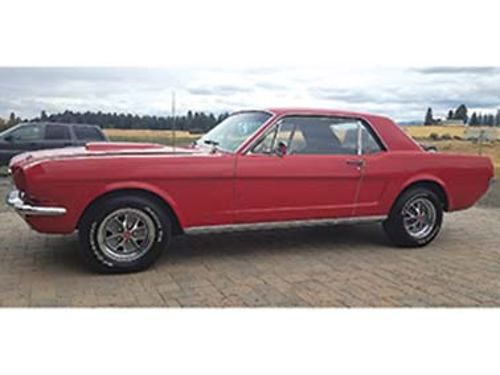 1966 FORD Mustang 302 V-8 4 speed Rally wheels Shelby hood Flow Pro exhaust