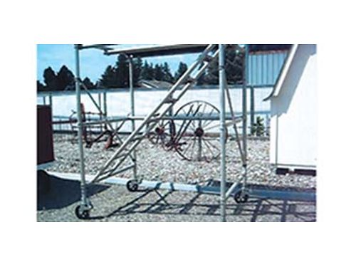 THREE sections 6 Aluminum scaffolding with steps 1250 OBO 509-926-9855 in Spokane Valley