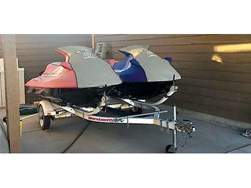 YAMAHA VX110 WAVERUNNERS 06 4-strokes w 95 Shorelander 2-place Trlr All in Excellent Running Co