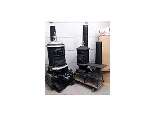 2 VINTAGE WOOD STOVES Nice condition 150 to 300 509-885-0244