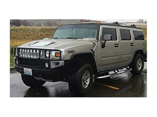 2003 HUMMER H2 auto tires like new 132k miles touch screen DVD leather sunroof tinted clean