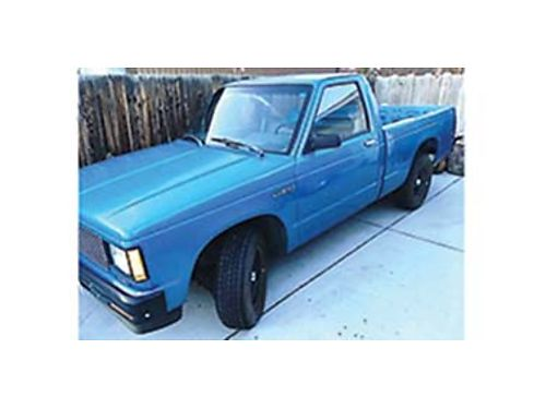 1989 CHEVROLET S10 shortbox very low orginal miles 62k 4cyl 5spd with new clutchruns and drives