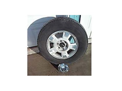 SET of 4 tires  wheels for a 2006 Ford F-150 They fit other years They were run April thru Octobe
