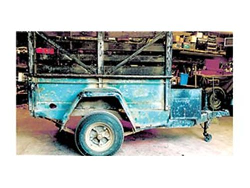 UTILITY TRAILER MADE FROM THE REAR OF ...