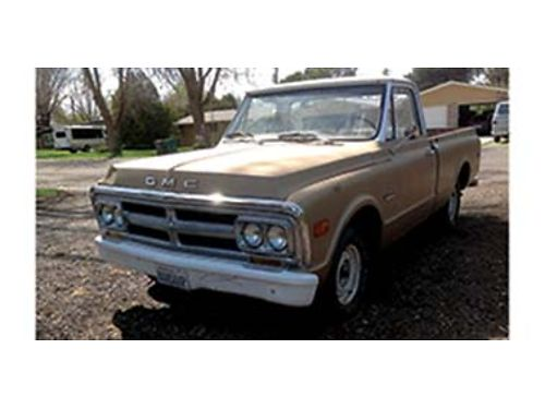 1969 GMC 12 ton shortwide bed good condition for its age starts easy and can be driven 6 cyl w