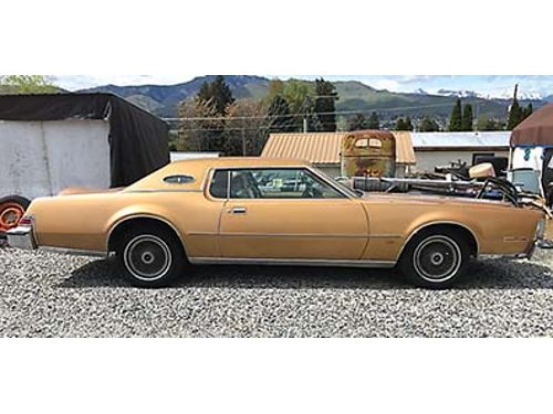 1974 LINCOLN CONTINENTAL MK4 old school luxury new vinyl top headliner and exhaust Original paint