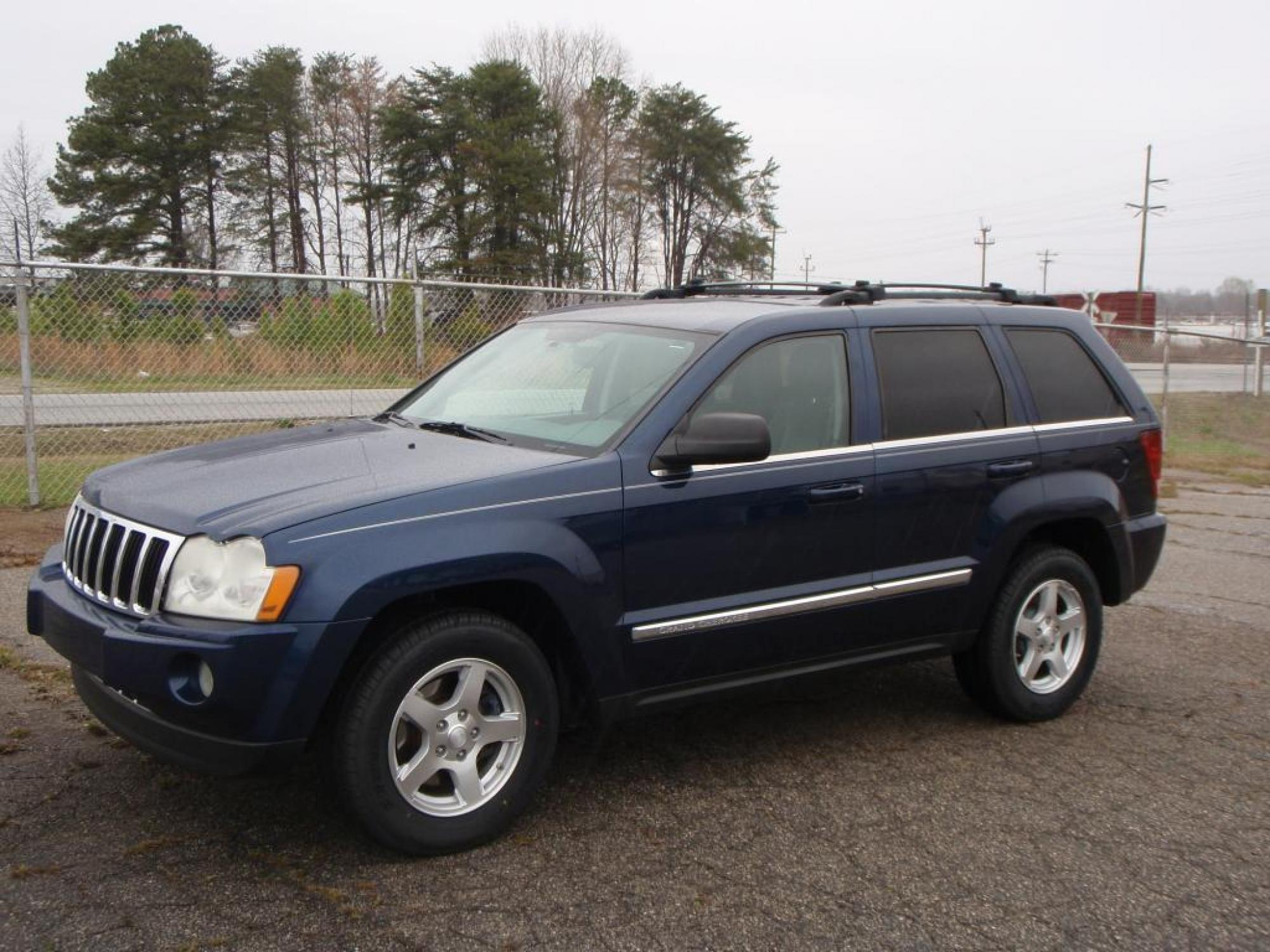 2005 Jeep GRAND CHEROKEE LIMITED 4 Door SUV BLUE GRAY LEATHER 4-WHEEL ANTI-LOCK DISC BRAKESAir