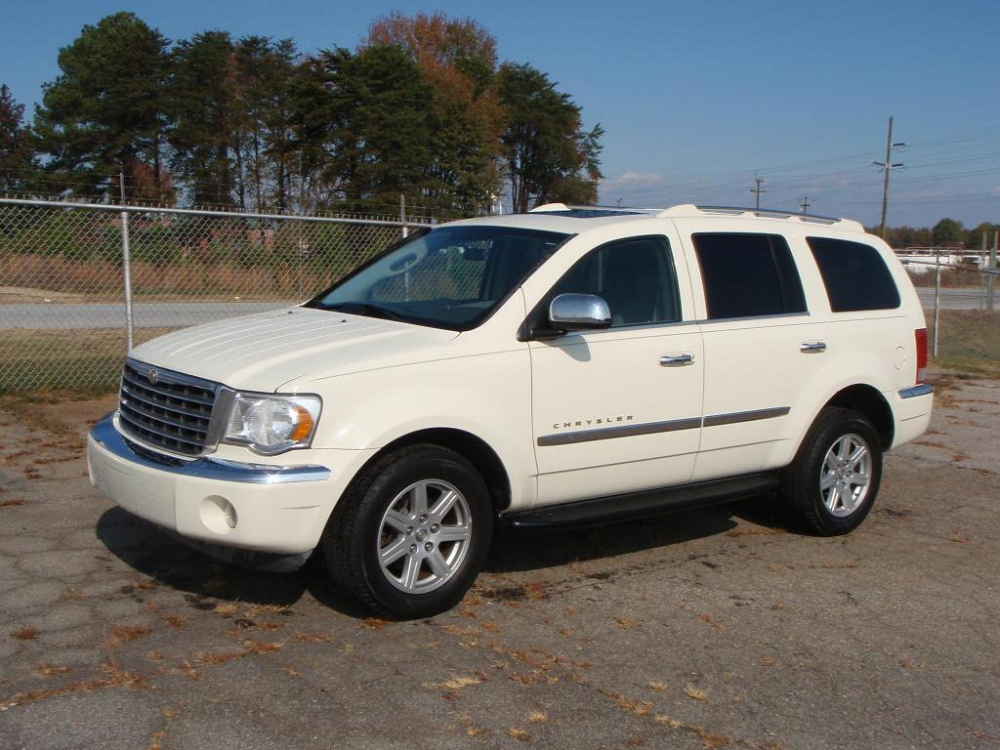 2007 Chrysler ASPEN LIMITED SUV WHITE GRAY LEATHER 4-WHEEL ANTI-LOCK DISC BRAKESPWR GLASS SUNRO