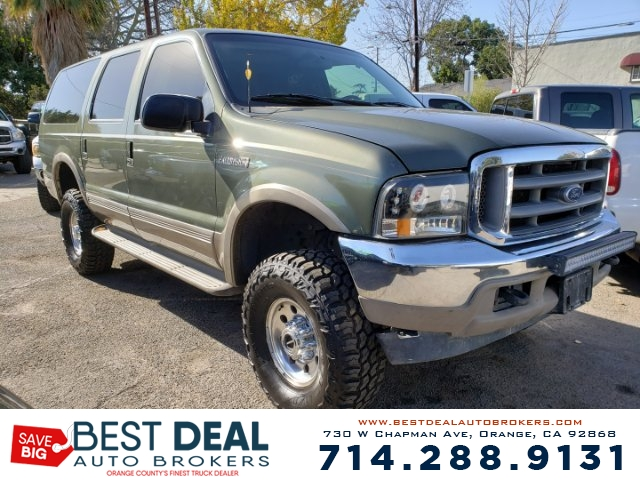 2000 Ford Excursion Limited 4WD SPORT Front air conditioning Rear air conditioning Front airbag