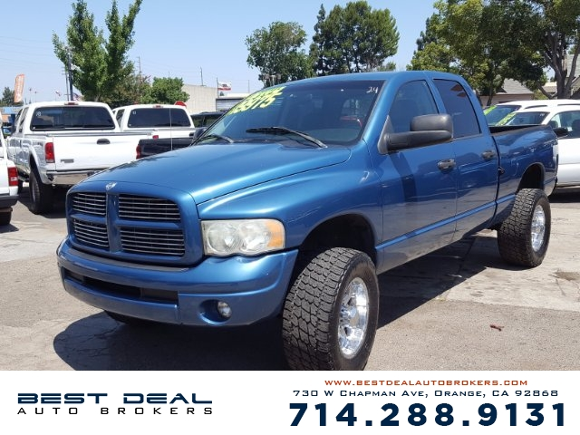 2003 Dodge Ram 2500 Diesel 4WD Quad Front air conditioning Front airbags - dual Cassette Radio