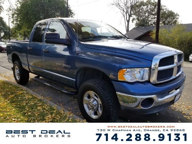 2003 Dodge Ram 2500 SLT Front air conditioning Front airbags - dual In-Dash CD - single disc Ra