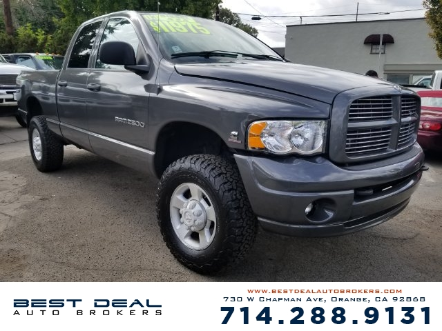 2003 Dodge Ram 2500 ST Front air conditioning Front airbags - dual Cassette Radio - AMFM ABS