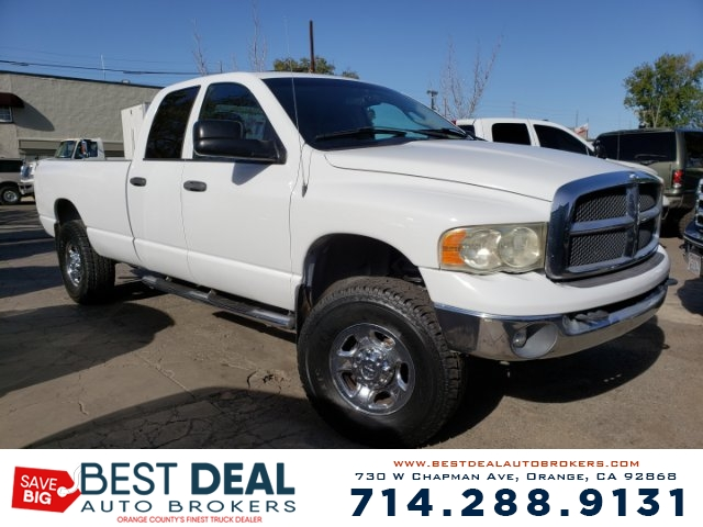 2004 Dodge Ram 2500 SLT Quad Cab Front air conditioning Front airbags - dual In-Dash CD - singl