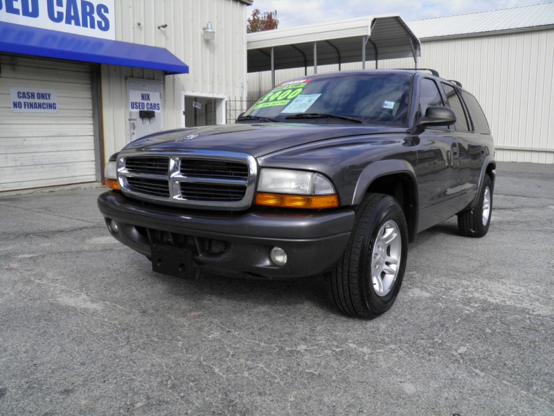 2003 DODGE DURANGO SLT 2WD Leather 3rd Row Kelly Blue Book 3568 Our Price 3400 GRAPHITE METALLIC