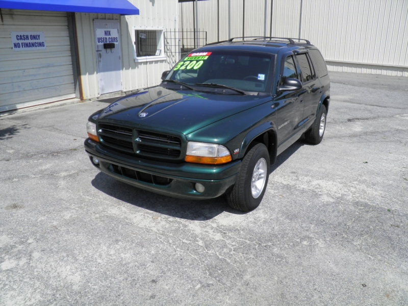 2000 DODGE DURANGO 2WD FOREST GREEN PEARL COAT 174123 miles VIN 1B4HR28Y1YF239881