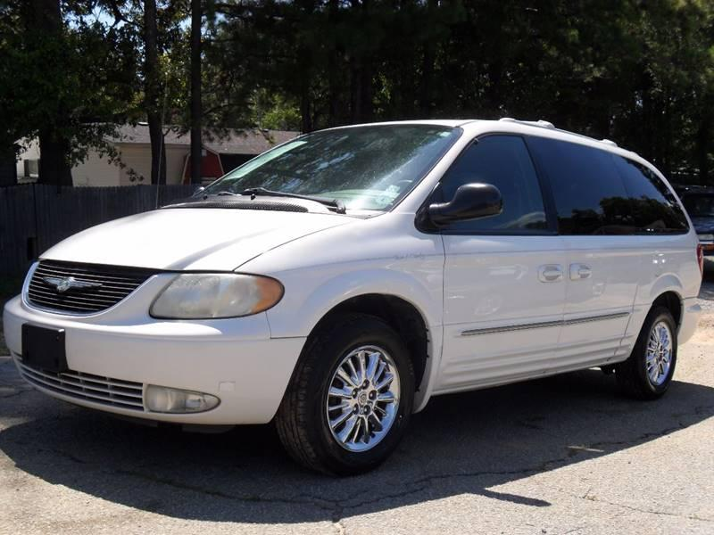 2003 CHRYSLER TOWN  COUNTRY LIMITED 4DR EXTENDED MINI DVD PLAYER AND HEADPHONES INCLUDED White 1