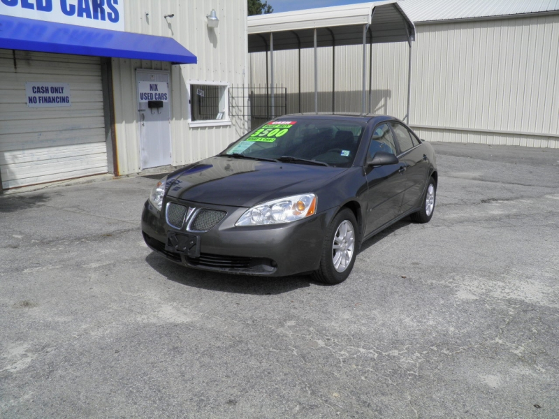 2006 PONTIAC G6 V6 SEDAN STEALTH GRAY METALLIC 174221 miles VIN 1G2ZG558X64103429