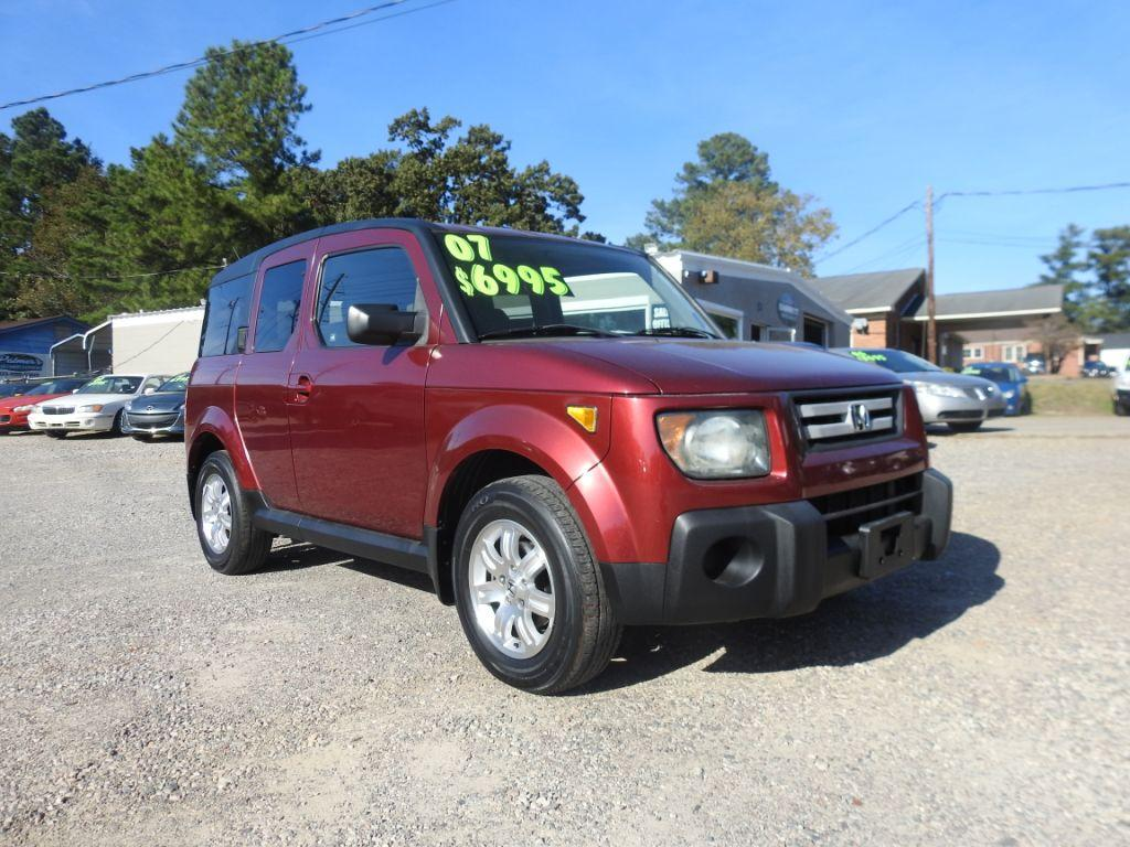 2007 Honda Element  RED Stock 18224 VIN 5J6YH18787L009423
