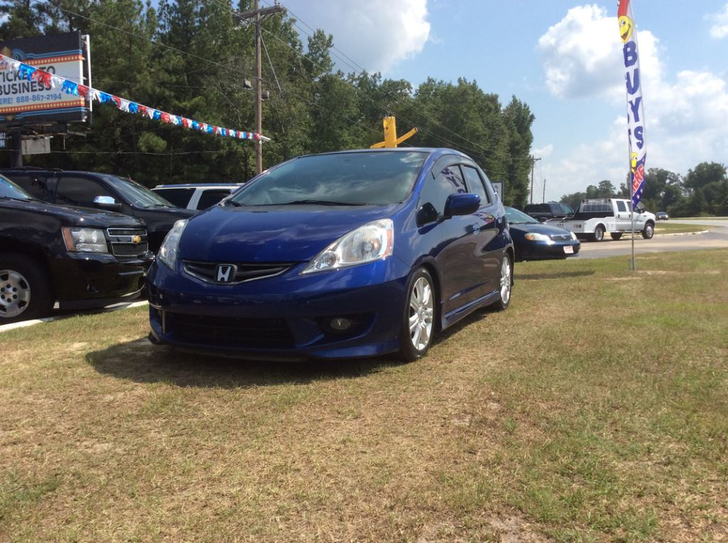2009 Honda FIT  Blue Stock 7410 VIN JHMGE88459S013333