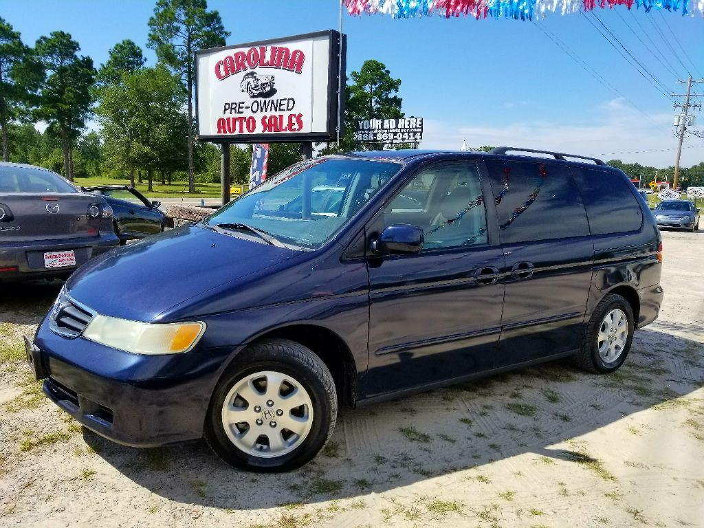 2004 Honda Odyssey EX-L Blue Front  rear Air ConditioningFront Armrests2nd row Assist Handles