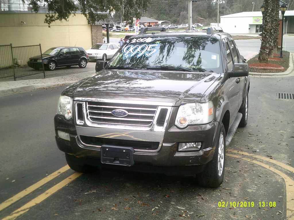 2008 Ford Explorer Sport Trac  Clean Crew Cab XLT with Leather Brown 5 PassengerAbs 4wheelAi