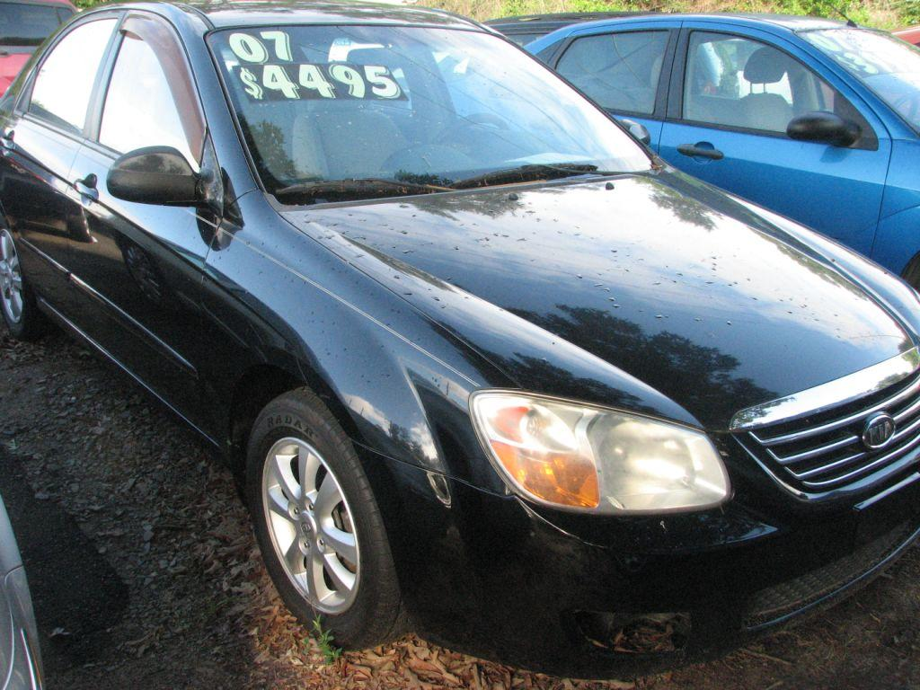 2007 KIA Spectra  Black Stock 16038 VIN KNAFE121275380105