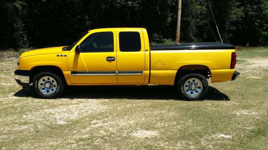 2006 Chevrolet Silverado 1500  Yellow Stock 7667 VIN 1GCEK19V86Z260283