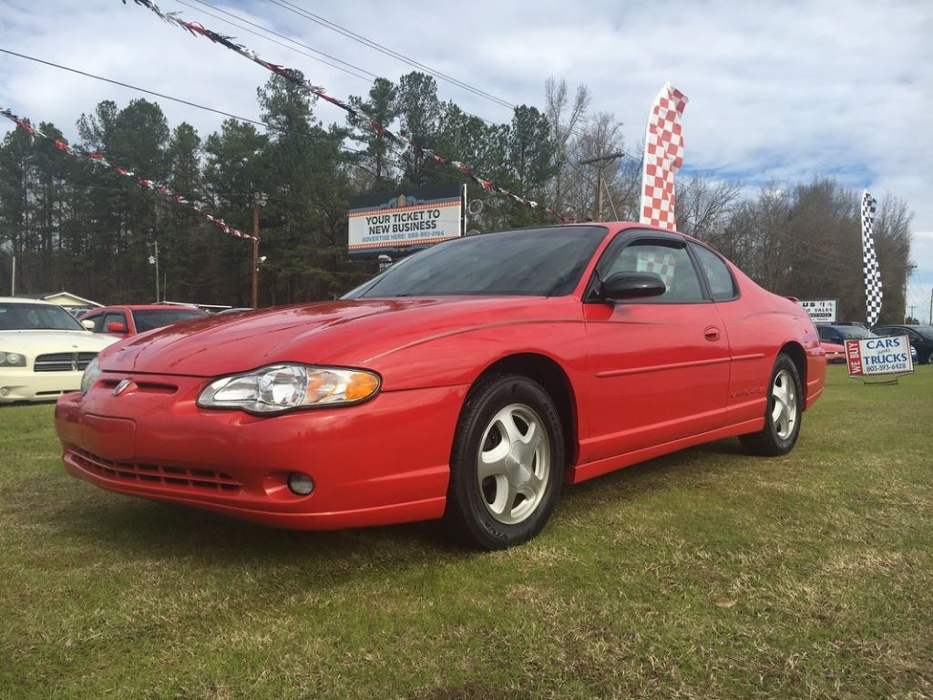 2003 Chevrolet Monte Carlo  RED Stock 7777 VIN 2G1WX12K339222528