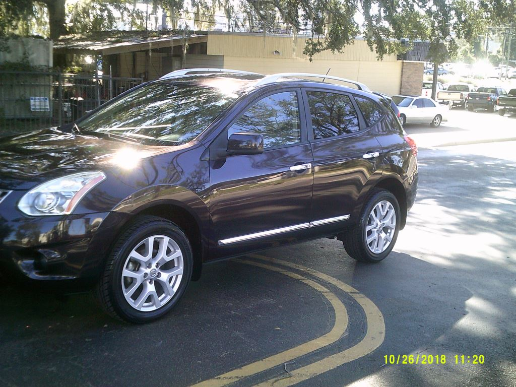 2011 Nissan Rogue  Leather Roof All Power Burgundy 5 PassengerAir ConditioningAlloy WheelsBac