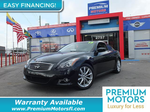 2013 INFINITI G37 COUPE  LOADED CERTIFIED WE SAVE YOU THOUSANDS Fully serviced just sign and d