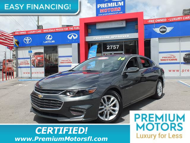 2016 CHEVROLET MALIBU 4DR SEDAN LT W1LT LOADED WITH VALUE Comes equipped with Air Conditioning