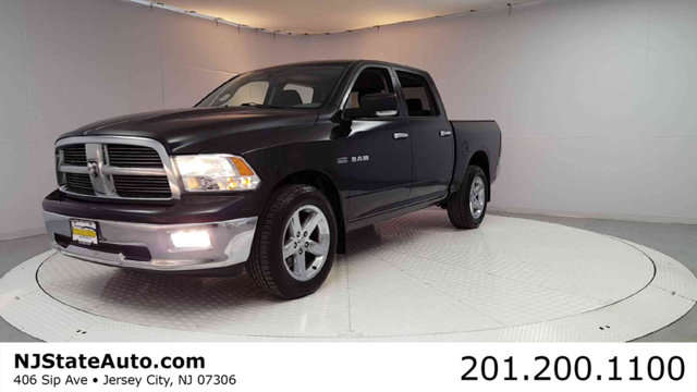 2010 DODGE RAM 1500 4WD CREW CAB 1405 SLT CARFAX One-Owner Clean CARFAX Brilliant Black 2010 D