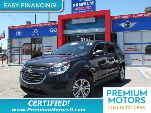 2016 CHEVROLET EQUINOX AWD 4DR LS LOADED CERTIFIED FACTORY WARRANTY Fully serviced just sign a