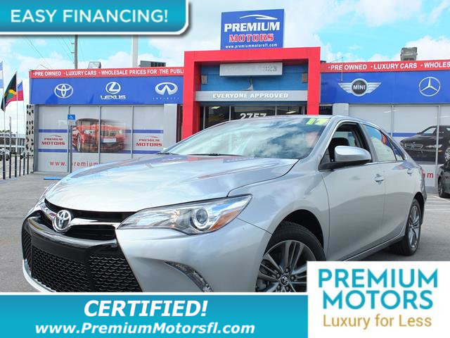 2017 TOYOTA CAMRY SE AUTOMATIC TOYOTA FOR LESS FACTORY WARRANTY At Premium Motors we have